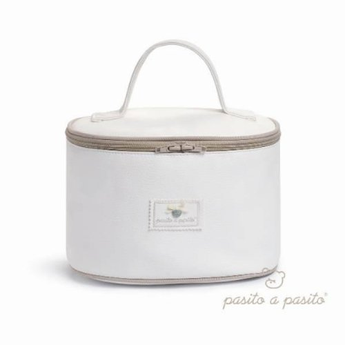 Pasito a pasito – Trousse Vanity en cuir synthétique beige
