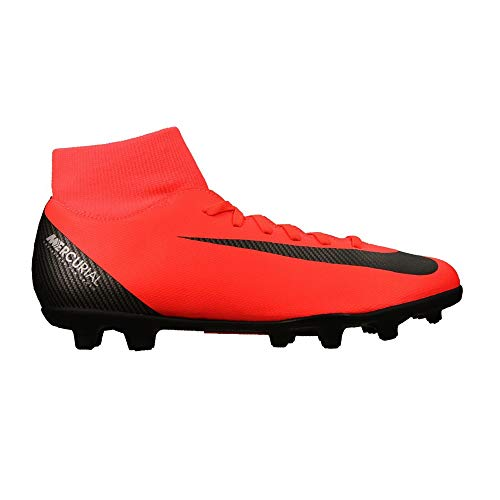 NIKE Men's Superfly 6 Club CR7 MG Bright Crimson/Black-Chrome Football Shoes (AJ3545-600)