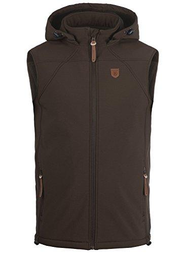 INDICODE Romeo - Softshell Vest da uomo, taglia:M;colore:Dark Brown (020)