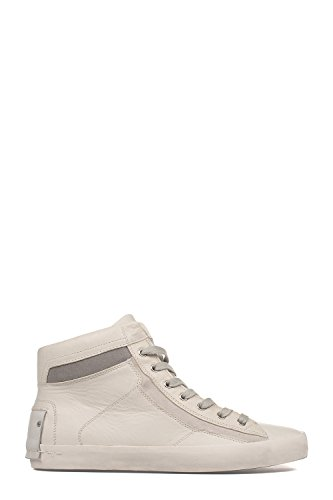 CRIME LONDON HI TOP SNEAKERS UOMO 11022S17B10 PELLE BIANCO