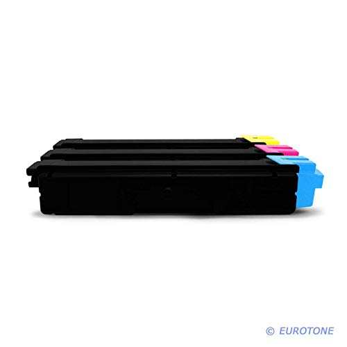 3X Eurotone Toner für Kyocera Ecosys P 6021 Wie Color Blau Rot Gelb TK580