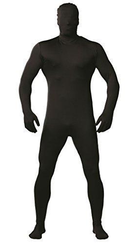 Imagen de negro de hombre sombra halloween elástico mono mono fiesta de halloween disfraz disfraz talla l