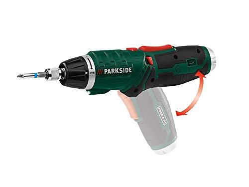 PARKSIDE® Akku-Stabschrauber PSSA 4 A1 | LED Leuchte | USB- Ladegerät | im Koffer + Bit- Set Zubehör