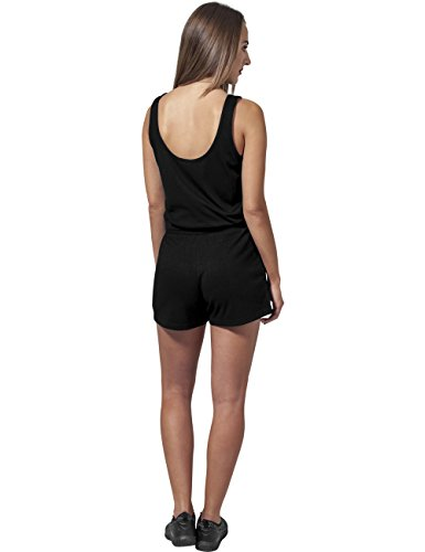 Urban Classics Damen Jumpsuit Ladies Melange Hot, Schwarz Black 825, Small - 4