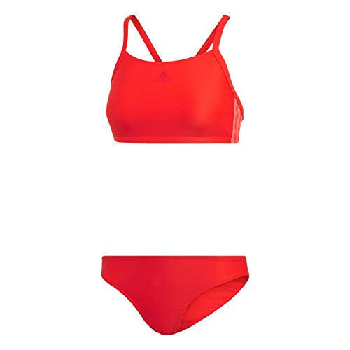 adidas Damen FIT 2PC 3S Swimsuit Active red 38