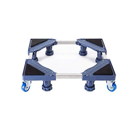 Multifunktionale bewegliche verstellbare Basis Feste Füße, Drehradkombination Gilt für Waschmaschine Trockner Kühlschrank Klimaanlage 2 Modelle Grau (Größe: A) - 2 Feste Unterstützung