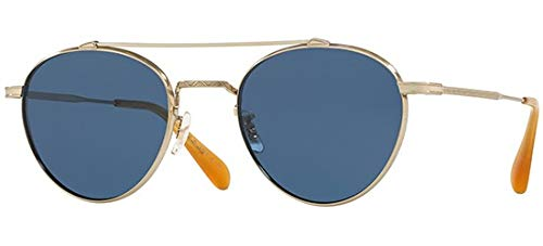 Oliver Peoples Sonnenbrillen WATTS SUN OV 1223ST BRUSHED GOLD/BLUE Herrenbrillen