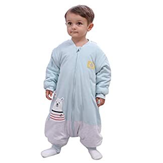 Saco de dormir para bebé, invierno, niño, niña, recién nacido, pelele – 2,5 TOG, con pies, para todo el año, pijama de oso polar