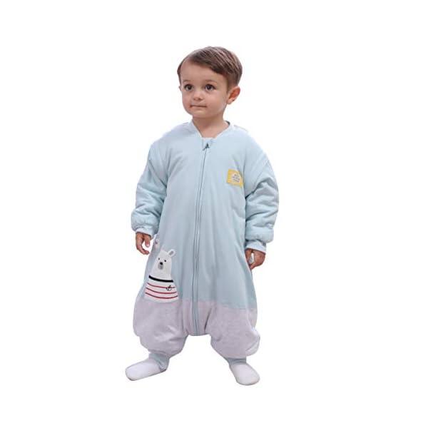 Saco de Dormir para bebé, Invierno, niño, niña, recién Nacido, Pelele – 2,5 TOG, con pies, para Todo el año, Pijama de Oso Polar Rosa Rosa. Talla:XL:110/3-4jahre