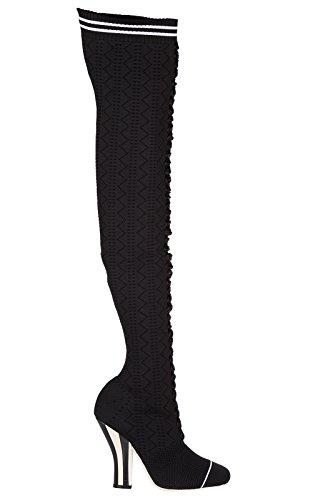 Fendi-Womens-Heel-Boots-Black