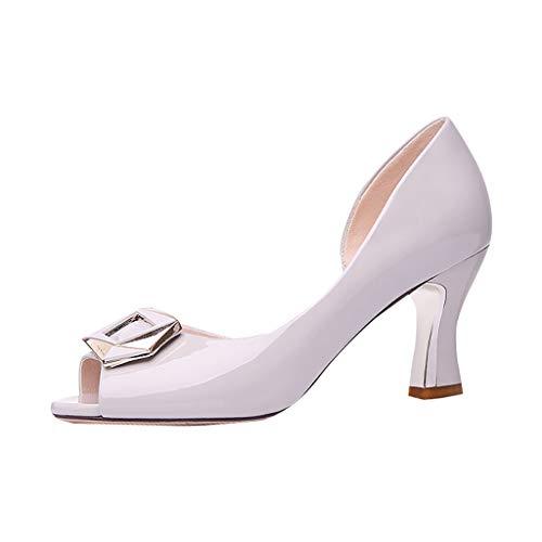 Markthym Neue Sommermode Frauen Schuhe rutschfeste High Heels offene Zehen Elegante Sandalen Klobige Sandalen mit offenen Zehen -