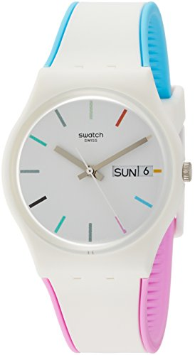Swatch Women's Analogue Quartz Watch with Silicone Strap GW708
