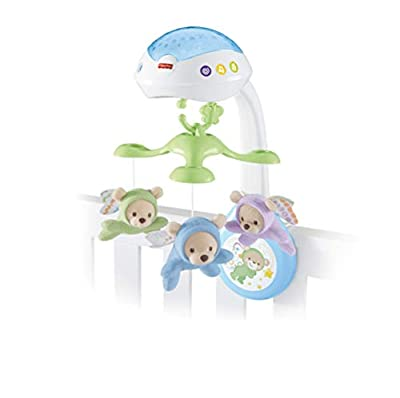 Fisher-Price CDN41 Butterfly Dreams 3-in-1 Projection Mobile, New-Born Baby Light Projector Cot Mobile, Suitable from Birth