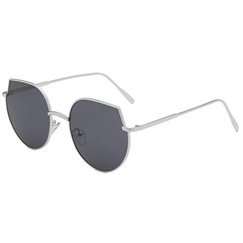 fazry Herren Damen Persönlichkeit Steampunk Jahrgang Metallrahmen Brille Brillen Sonnenbrille (A)
