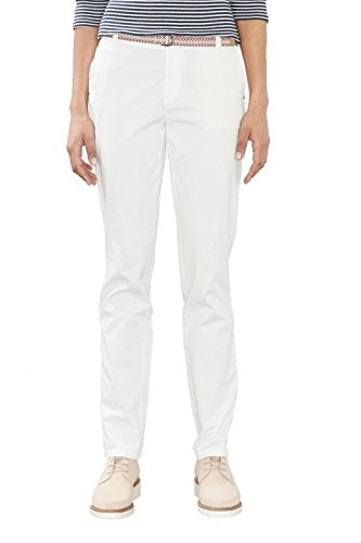 ESPRIT 027ee1b018, Pantaloni Donna Bianco (White)