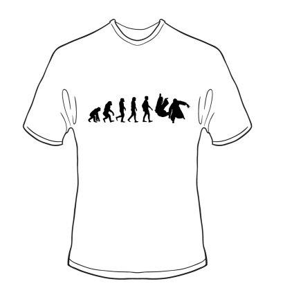 schweres Qualitäts T-Shirt Evolution Aikido Farbe weiss