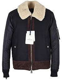 MONCLER CL Blue Plovan Wool Cashmere Blend Jacket Coat Size 2 / M / 48/