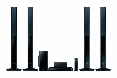 Samsung HT-H5550W 5.1 3D Blu-ray-Heimkinosystem (1000W, WLAN, Bluetooth, Smart TV, kabellose Rücklautsprecher) schwarz