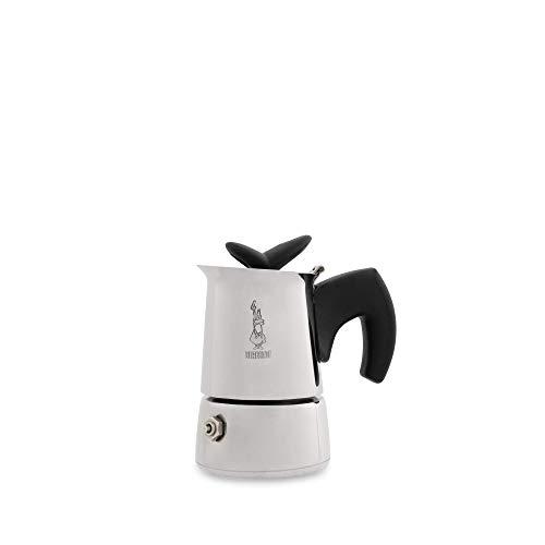 Bialetti MUSA Restyling Edelstahl Design 1 Tassen Espressokocher mit Glanzfinish