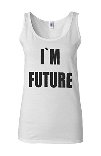 I Am Future Funny Novelty White Femme Women Tricot de Corps Tank Top Vest **Blanc
