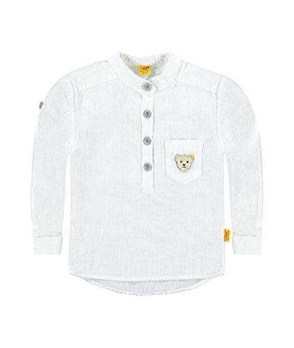 Steiff Collection Jungen, Hemd, Hemd 1/1 Arm, Weiß (bright White 1000), 80