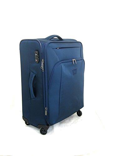 Trolley Medio 63 Cm Spinner 4 Ruote Espandibile | Roncato Tribe | 414522-Blu Notte