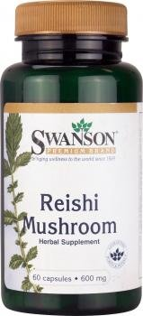 Swanson Reishi Mushroom (600mg, 60 Capsules) by Swanson Health Products