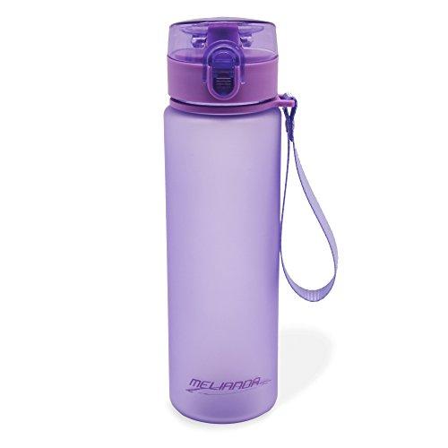 Melianda MA-7300 - Impermeabile, leggero flacone da 550 ml, con cinturino in nylon e chiusura a scatto, senza BPA, chiusura a scatto, viola