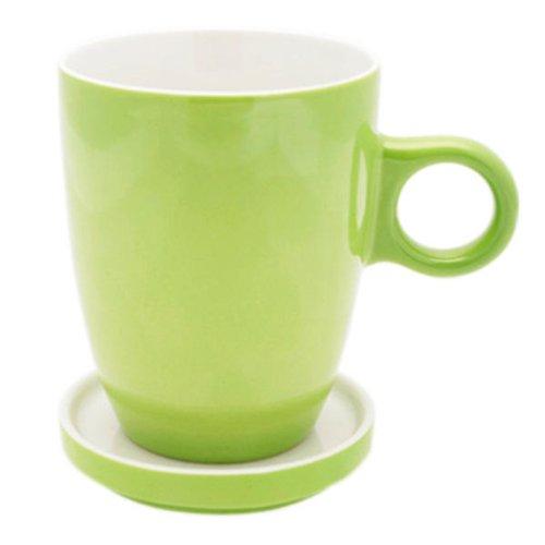Pickwick Tea Porzellan Tasse + Tee Tip, Tee, Glas, Untertasse, 230 ml, grün