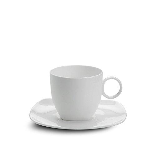 Tasse mit Untertasse 250 ml CASHMERE square / Maxwell & Williams / Bone China / Kaffeetasse / Teetasse Cashmere Bone China