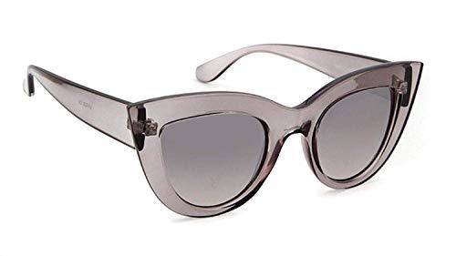 CNSP Brillen,Vintage Sonnenbrillen,2019 New Cat Eye Sunglasses Women Tinted Color Lens Men Vintage Shaped Sun Glasses Female Black Eyewear,C8
