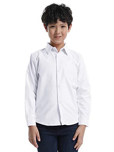 Ochenta - maniche lunga oxford camicia - ragazzo n005 bianco tag 150cm - 11-12 anni