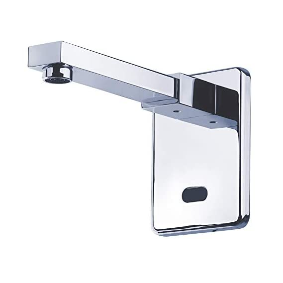 DOLPHY Stainless Steel Automatic Wall Mounted Sensor Tap, Standard, Silver