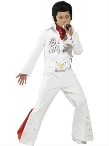 Elvis Presley Fancy Dress Kinder Kostüm Elvis-Kostüm, groß, Alter (Zubehör Kostüm Elvis)