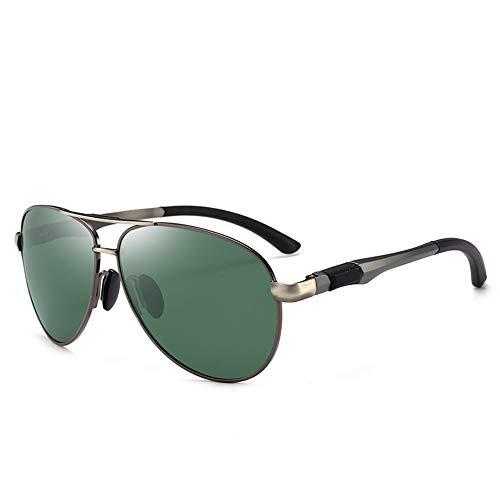 Sonnenbrille,2019 Metall Pilot Polarisierte Männer Sonnenbrille Classic Aviator Für Männliche Entspiegelte Brillen Gewehr Grün
