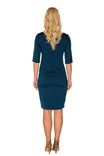My Tummy Mutterschafts Kleid Umstands Kleid Marion grün Spitze Schleife - 4