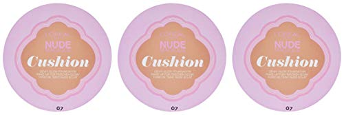 L'Oréal Paris - Nude Magique - Fond de Teint - Cushion 7 - Beige Doré - Lot de 3