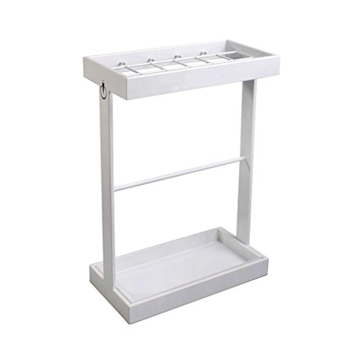 Unbekannt American minimalist umbrella stand home office supermarket bank umbrella buckets Hotel lofty storage stand umbrella white (42*21*60CM)