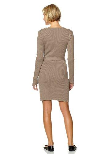 BOYSENS Damen-Kleid Strickkleid mit Gürtel Beige Größe 42