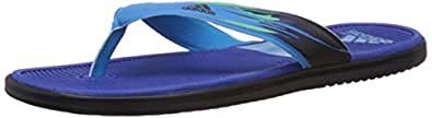 adidas Men's Sc Beach Dark Blue and Blue Flip-Flops and House Slippers - 12 UK