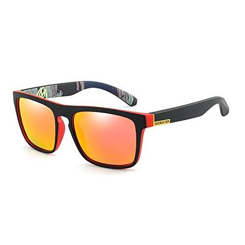 Herren Polarisierte Sonnenbrillen Sport Sonnenbrillen Bunte Angeln Reiten Brille Frauen Weiblichen Platz Bunte Spiegel Reis Nagel Freizeit Klassische Sonnenbrille Accessoires ( Color : Red+red )