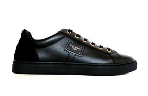Dolce & Gabbana , Herren Sneaker Schwarz Schwarz, Schwarz - Schwarz - Größe: 39 EU
