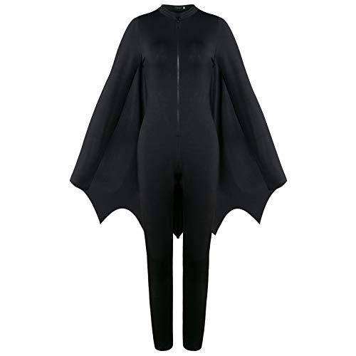 Inspiriert Kostüm Batman - Womens Fledermaus Flügel Ärmel, Halloween Kostüme für Frauen Batman Ghost Kostüm Halloween Kostüm Export Spiel Uniform Party Dress - Milk Silk,L
