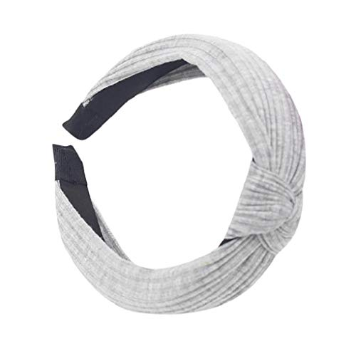 VJGOAL Damen Mädchen Mode Elegant Volltonfarbe Verknotet Haarband Stirnband Bow Knot Cross Tie Headwrap ()