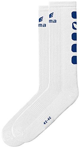 Erima Socken 5-Cubes Lang, Weiß/New Navy, 43-46, 618511