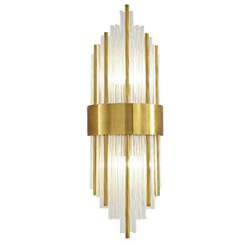 Landdeng muro nordico lampada da parete cristallo k9 applique luce oro colore foyer soggiorno camera da letto muro luce applique di lusso 2 x e14 lampada