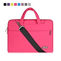 Qishare Laptop Case, Laptop Shoulder Bag, Multi-functional Notebook Sleeve, Carrying Case With Strap for Chromebook Macbook HP Stream Samsung Acer Asus Dell Lenovo