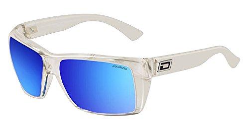 Dirty Dog Mobster Sonnenbrille in Kristall mit blau verspiegelt polarisiert Objektive