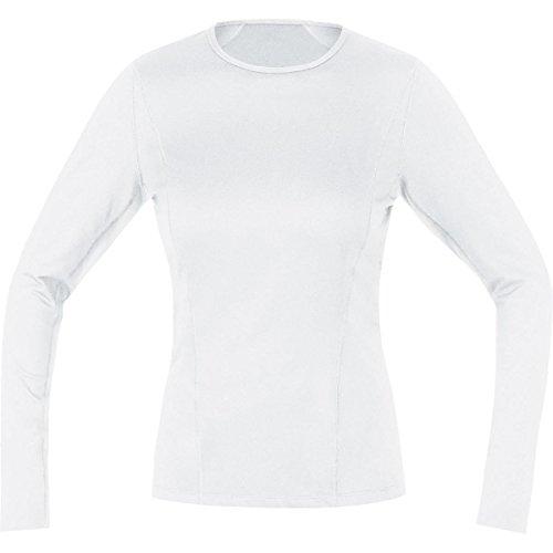 Gore Running Wear UESLLD010003 Maglia Donna a maniche lunghe, Biancheria intima, GORE Selected Fabrics, ESSENTIAL BL LADY long, Taglia 36, Bianco