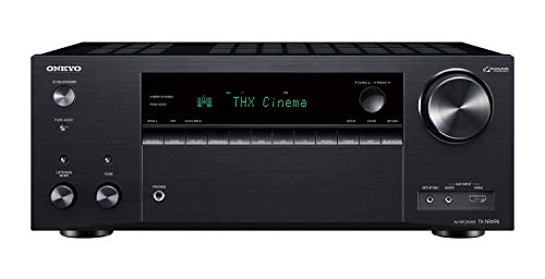 Vision Audio-home-theater-systeme (Onkyo TX-NR696(B) 7.2 Kanal AV Receiver (THX Kinoklang, Dolby/DTS:X, WLAN, Bluetooth, Streaming, Musik Apps, Spotify, Deezer, Radio, Multiroom, 175 W/Kanal) Schwarz)